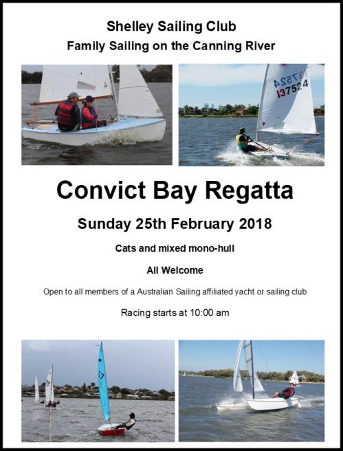 Convict Bay Regatta 2018 Web Poster
